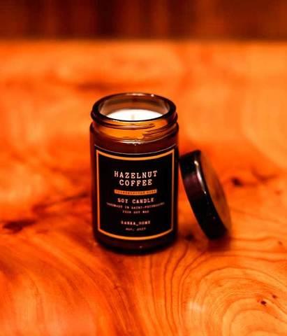 Свеча ароматическая в темном стекле Свежемолотый кофе, Banka home