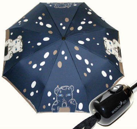 Купить онлайн Зонт складной Maison Perletti 16219-blu Bear design в магазине Зонтофф.