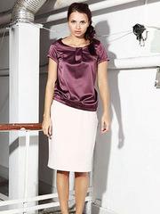 B044-85 блузка женская, бордовая