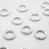 "Коннектор - кольцо TierraCast ""Hammertone"" 9 мм (цвет-платина) ()"