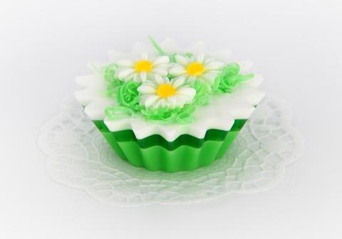 Мыльное ассорти/пирожное: РОМАШКОВЫЙ БУКЕТ, 115 гр/шт
