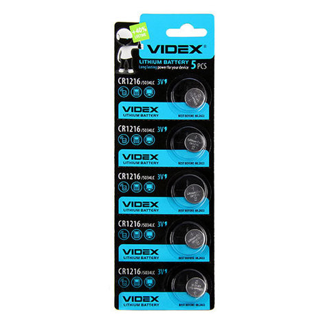 Батарейки литиевые Videx CR 1216 / 5 BL