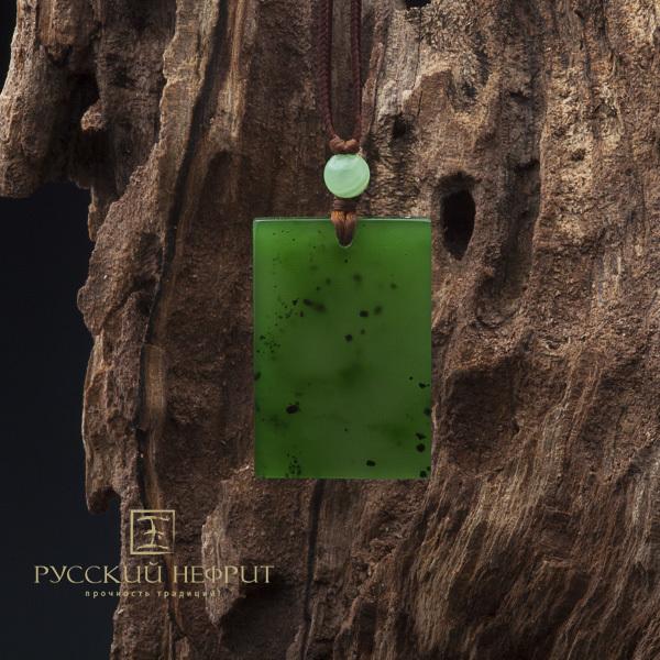 Тетрагон из зелёного нефрита