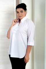 Айрис. Женская блузка больших размеров. Белый