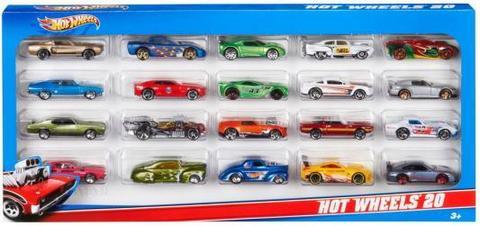 Набор машинок Mattel Hot Wheels 20 базовых машинок в асс