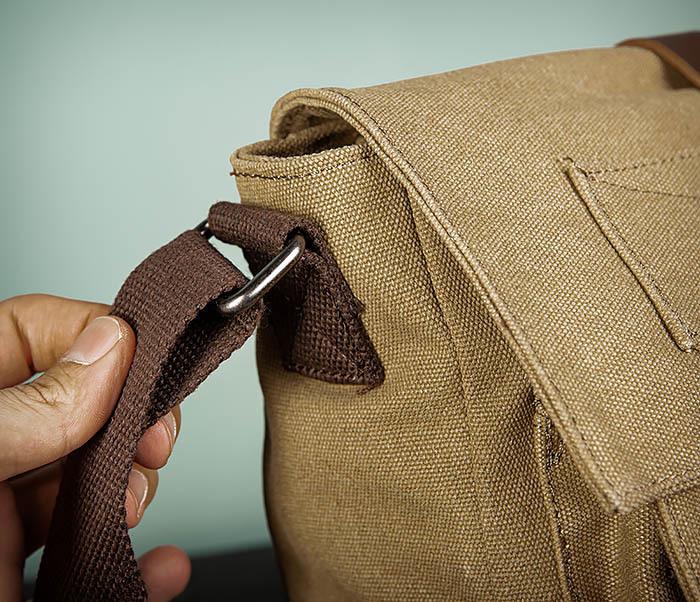 BAG503-2 Мужская сумка планшет из плотной ткани фото 04