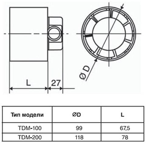 Канальный вентилятор Soler&Palau TDM100