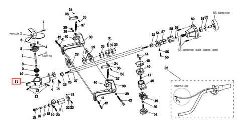 Корпус редуктора  для лодочного мотора T2 SEA-PRO