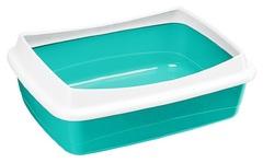 Открытый туалет для кошек Ferplast DODO, с бортом разноцветный, 46 х 35 х 11 см