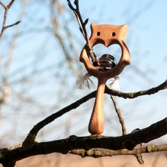 Погремушка с бубенцом Совушка от Леснушки