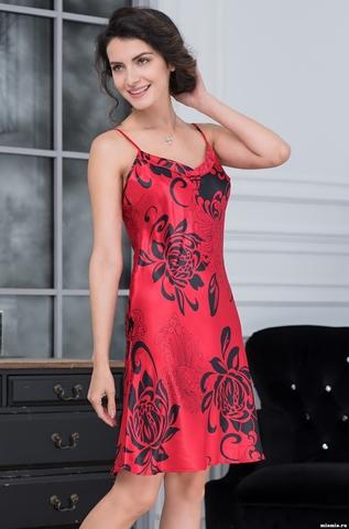 Сорочка ночная женская MIA-AMORE Da Vinci Да Винчи 8440 красная