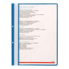 Папка скорос-тель А4 с перф-цией на кор. син.пласт. 10шт/уп Россия
