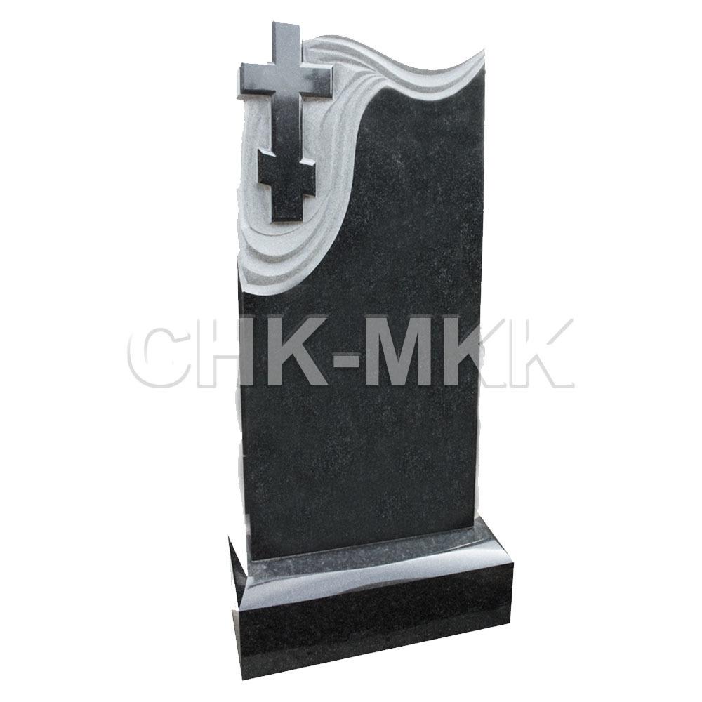 Вертикальный памятник с крестом П-8