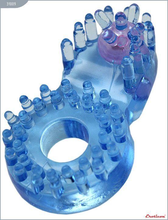 Эрекционные кольца: Кольцо с клиторальным язычком и шипиками