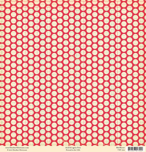 Лист двусторонней бумаги Red Rover из коллекции