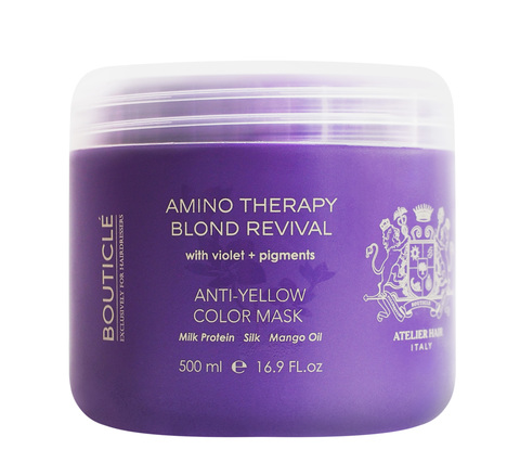 Восстанавливающая маска с анти-желтым эффектом для осветленных волос - Bouticle Anti-Yellow Color Mask 500 мл