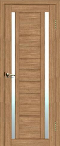 Дверь La Stella 203, стекло матовое, цвет дуб сантьяго, остекленная
