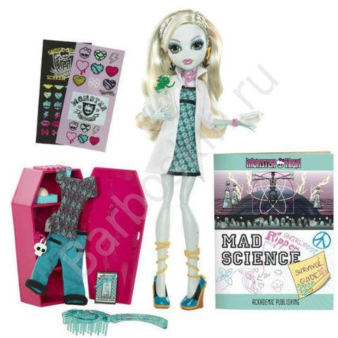 Кукла Monster High Лагуна Блю (Lagoona Blue) со шкафчиком - Сумасшедшая наука (Mad Science), Mattel