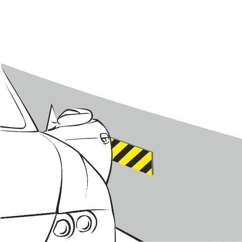 Маты для защиты дверей автомобиля. Толщина 8 мм. Размер 330х110 мм (2 шт в уп.)