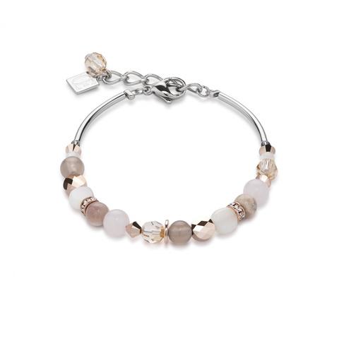 Браслет Coeur de Lion 4914/30-1019 цвет бежевый, розовый, белый