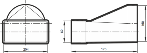 620СП16КП Соединитель прямой 204х60/160