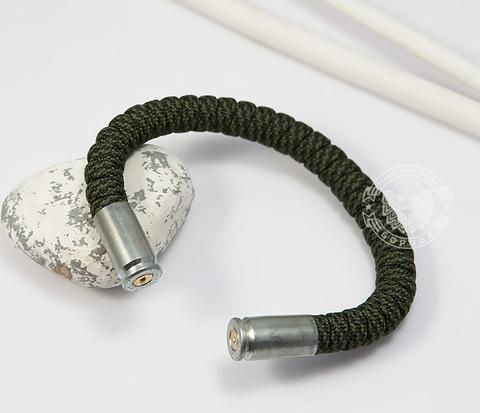 BD153-1 Браслет из паракорда, стали и гильз (никель), ручная работа