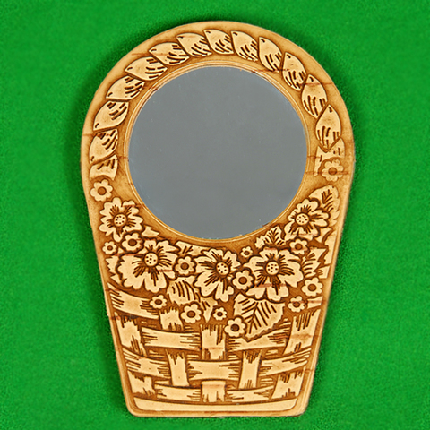 Зеркало корзинка, с ручкой
