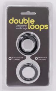 Эрекционные кольца: Набор из 2 эрекционных колец Double Loops