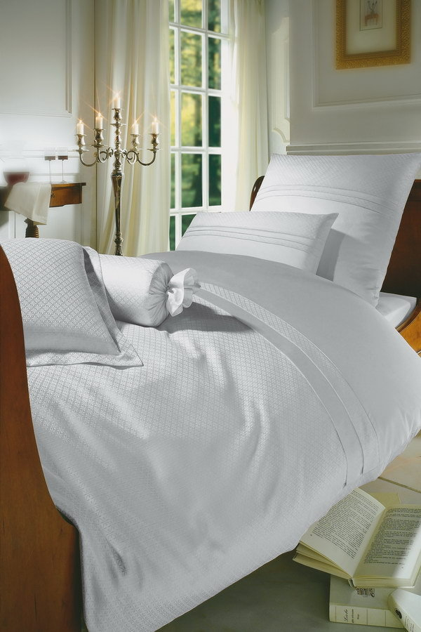 Постельное белье 2 спальное евро Curt Bauer Sanssouci белое