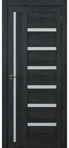 Дверь APOLLO DOORS F17, стекло матовое, цвет дуб серый, остекленная