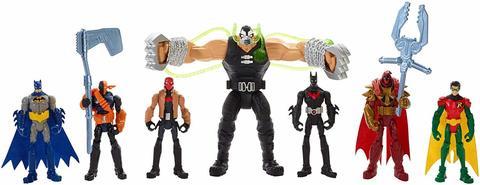 Набор фигурок из 7 фигурок - Битва Бейна Готем Сити , Mattel