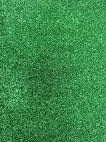 Глиттерный фоамиран 20х30х2 мм зеленый