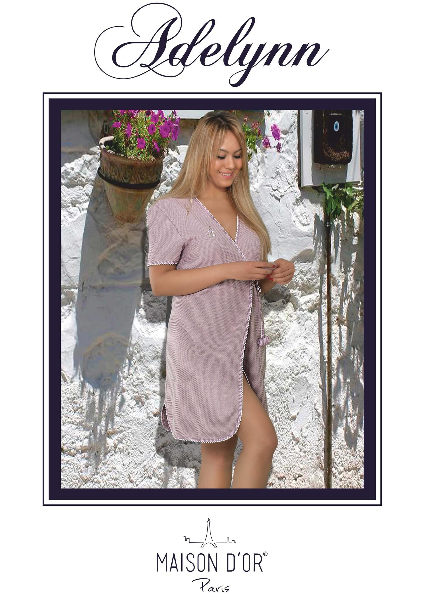 Махровые халаты ADELYNN - АДЕЛИНН вафельно-махровый женский халат Maison Dor Турция Adelyn_Bornoz-K.jpg