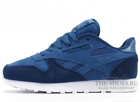 Кроссовки Женские Reebok Classic Leather Double Blue