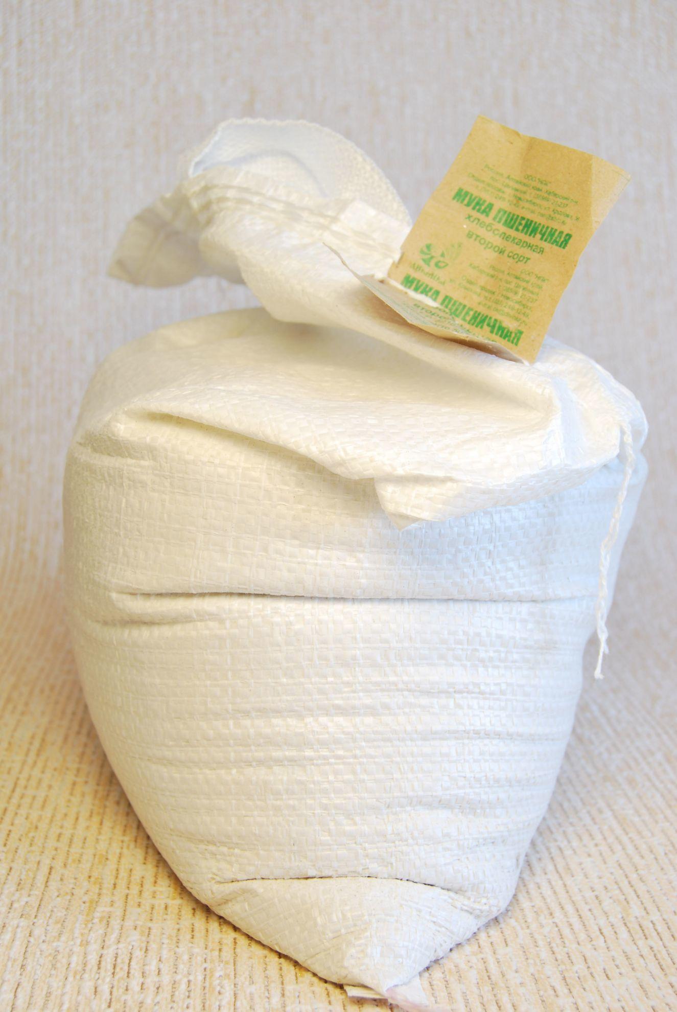Мука пшеничная хлебопекарная, Дивинка, Алтайская, 2 сорт, мешок, 5 кг
