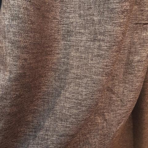 Блэкаут лен для штор коричневый оптом. BLL-8-01