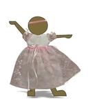 Платье из гипюра - Демонстрационный образец. Одежда для кукол, пупсов и мягких игрушек.