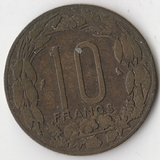 K7086, 1961, Экваториальная Африка Камерун , 10 франков