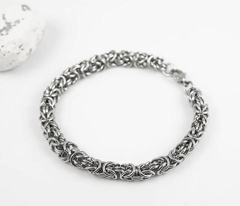 Мужской браслет цепочка из стали (20 см)