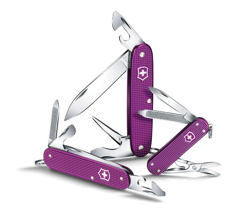Нож-брелок Victorinox Classic Alox, 58 мм, 5 функ, фиолетовый  (0.6221.L16)