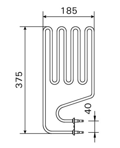 ТЭН HARVIA - тэн харвия 1500W ZSJ-110 (ZSJ-110) L=375x185mm. - нагревательный элемент для печи сауны