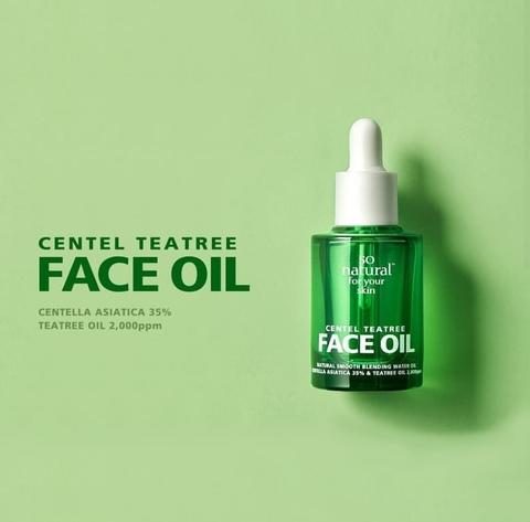 Масло для лица с центеллой и чайным деревом для проблемной кожи, 30 мл / So Natural Centel Teatree Face Oil
