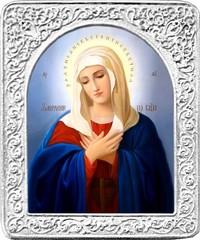 Умиление. Маленькая икона Божьей Матери в серебряной раме.