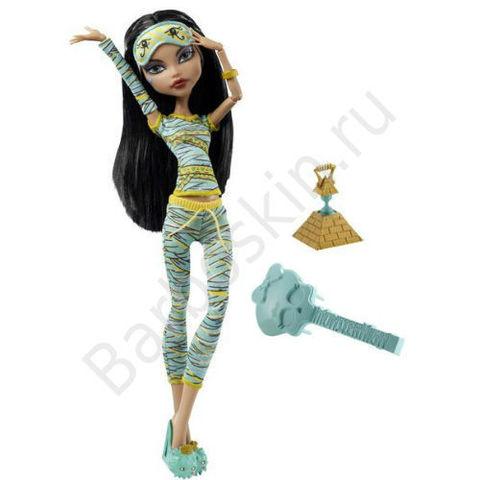 Кукла Monster High Клео де Нил (Cleo de Nile) - Пижамная вечеринка или Смертельно уставшие (Dead tired), Mattel