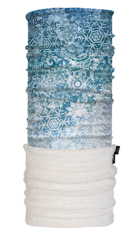 Теплый шарф-труба трансформер Buff Fairy Snow Turquoise