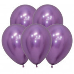 S 12 Рефлекс Фиолетовый, (Зеркальные шары) / Reflex Violet  / 5 шт. /