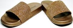 Пляжные шлепки J.B.P. Shoes NU25 Gold.