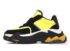 Кроссовки женские Balenciaga Triple S Black Yellow