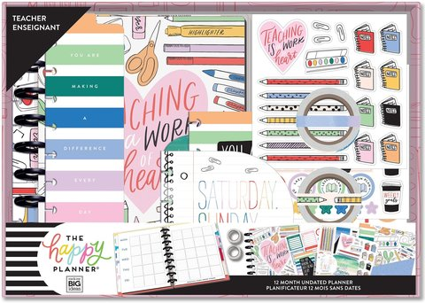 Набор для планирования учебы -Undated Classic Teacher Box Kit - 19,3 х 24,3см. -Work of Heart