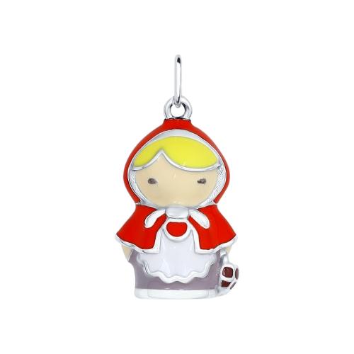 Серебряная подвеска «Красная шапочка»